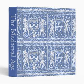 Medieval Renaissance Elegant Blue and White Binder