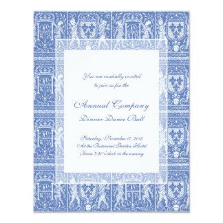 Medieval Renaissance Elegant Blue and White Card