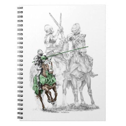 Medieval Renaissance Knights Spiral Note Book