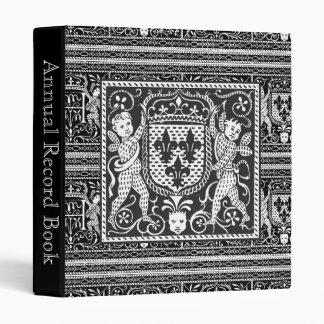 Medieval Renaissance Pageantry Elegant Pattern Binder