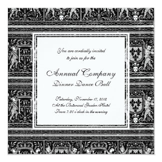 Medieval Renaissance Pageantry Elegant Pattern Card