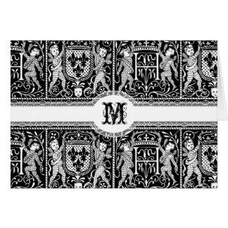 Medieval Renaissance Pageantry Elegant Pattern Card