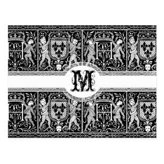 Medieval Renaissance Pageantry Elegant Pattern Postcard