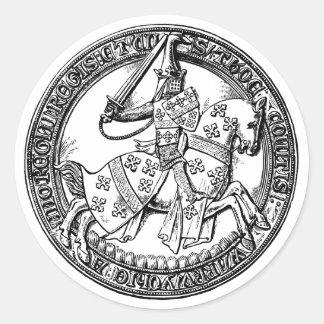Medieval Rider Herald Sticker
