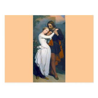 Medieval Romance Couple Postcard