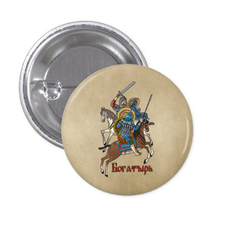 Medieval Russian Bogatyr 1 Inch Round Button