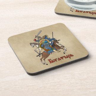 Medieval Russian Bogatyr Beverage Coaster