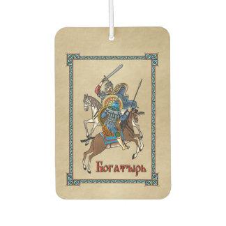 Medieval Russian Bogatyr Car Air Freshener