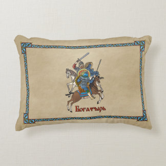 Medieval Russian Bogatyr Decorative Pillow
