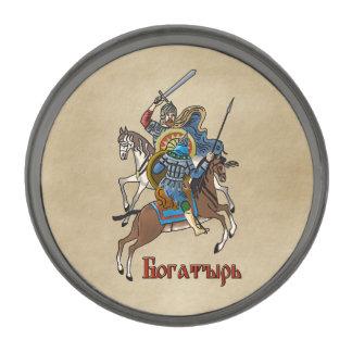 Medieval Russian Bogatyr Gunmetal Finish Lapel Pin