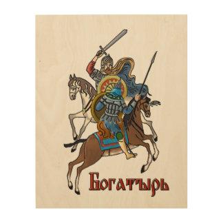 Medieval Russian Bogatyr Wood Print