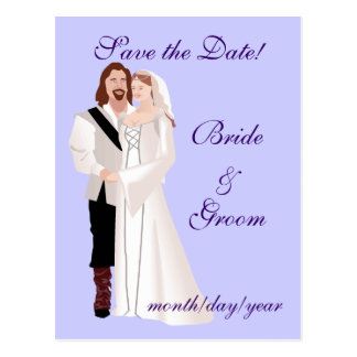 Medieval Save the Date! Postcards