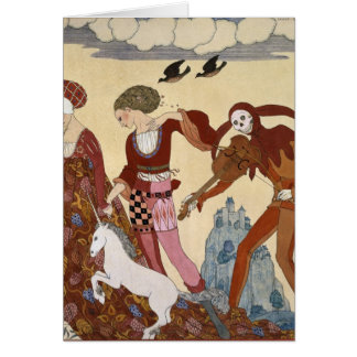 Medieval Scene by Georges Barbier Greeting Cards