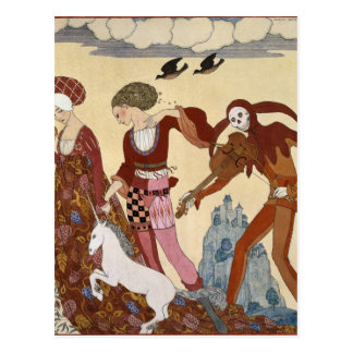Medieval Scene by Georges Barbier Postcard