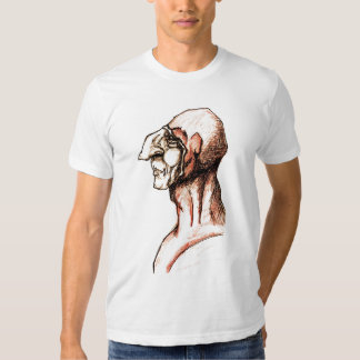 Medieval Scribe with Big Nose Red Hood T Shirt