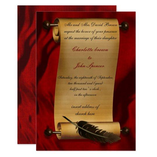 medieval scroll vintage invitation Zazzlecom