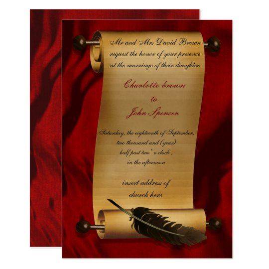 medieval scroll vintage invitation zazzle com