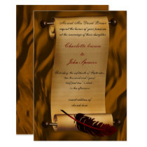 medieval scroll vintage invitation