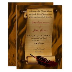 Medieval Scroll Invitations Announcements Zazzle