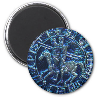 Medieval Seal of the Knights Templar 2 Inch Round Magnet