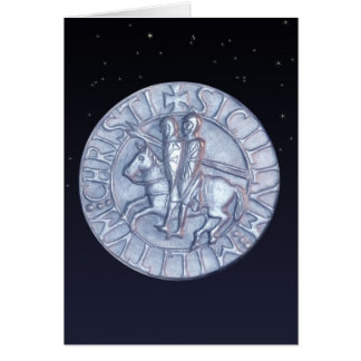 Medieval Seal of the Knights Templar Greeting Cards
