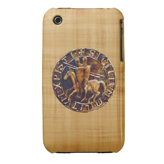 Medieval Seal of the Knights Templar Case-Mate iPhone 3 Case