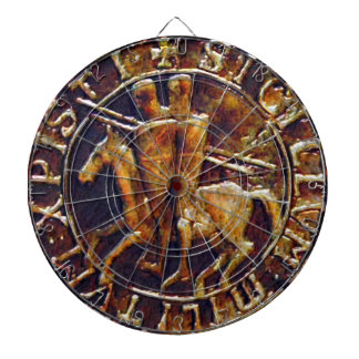 Medieval Seal of the Knights Templar Dartboard With Darts
