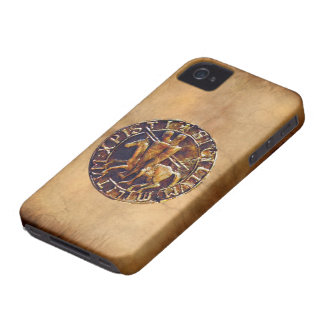 Medieval Seal of the Knights Templar iPhone 4 Cover