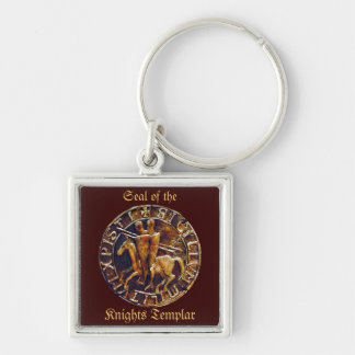 Medieval Seal of the Knights Templar Key Chain