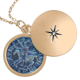 Medieval Seal of the Knights Templar Locket Necklace