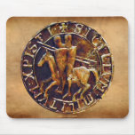Medieval Seal of the Knights Templar Mouse Pad