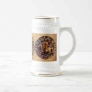 Medieval Seal of the Knights Templar 18 Oz Beer Stein