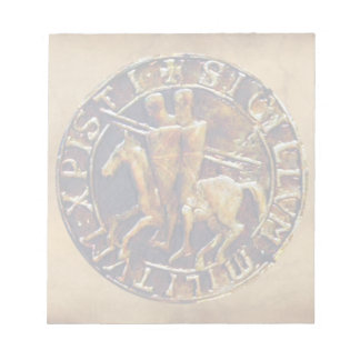 Medieval Seal of the Knights Templar Notepad