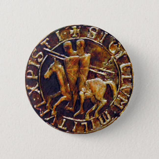 Medieval Seal of the Knights Templar Pinback Button