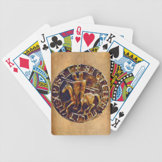 Medieval Seal of the Knights Templar Bicycle Poker Deck