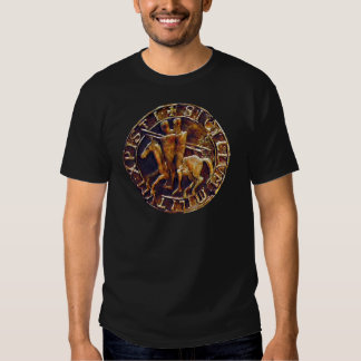 Medieval Seal of the Knights Templar T Shirts