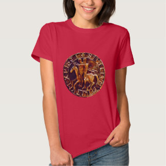 Medieval Seal of the Knights Templar T-shirts