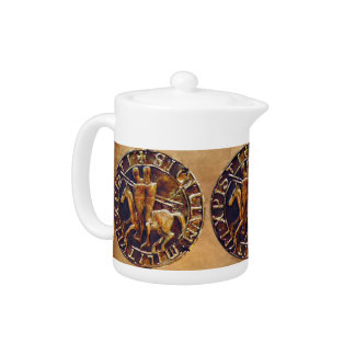 Medieval Seal of the Knights Templar Teapot