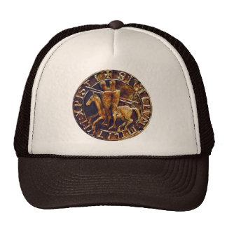 Medieval Seal of the Knights Templar Trucker Hats