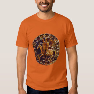Medieval Seal of the Knights Templar Tshirts