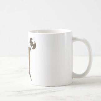 Medieval Shield And Axes Classic White Coffee Mug