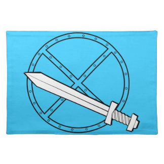 Medieval Shield w/ Sword Placemats