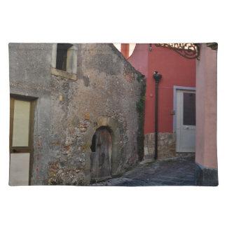 Medieval Sicilian mountain village Cloth Place Mat