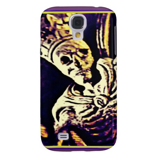 MEDIEVAL SKELETON KING WITH CROWN GALAXY S4 CASES