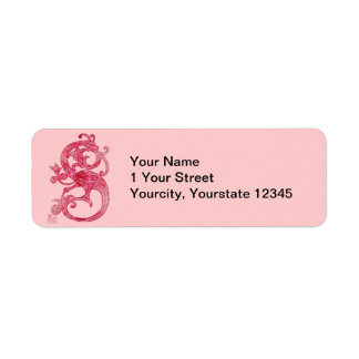 Medieval Smoky Red Lacy Glass Dragon Return Address Labels
