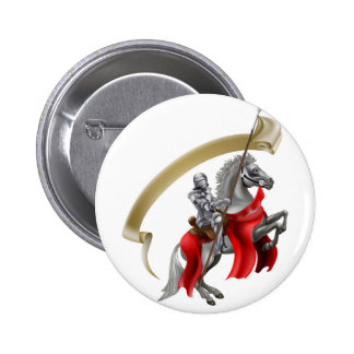 Medieval Spear Knight on Horse Button
