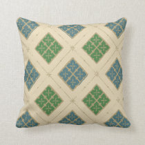 Medieval Square Pattern Throw Pillow