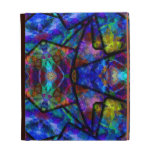 Medieval Stained Glass Digital Abstract Art iPad Cases
