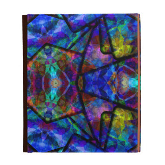 Medieval Stained Glass Digital Abstract Art iPad Case