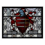 Medieval Stained Glass Panel Print